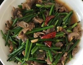 韭菜苔辣炒鸡胗