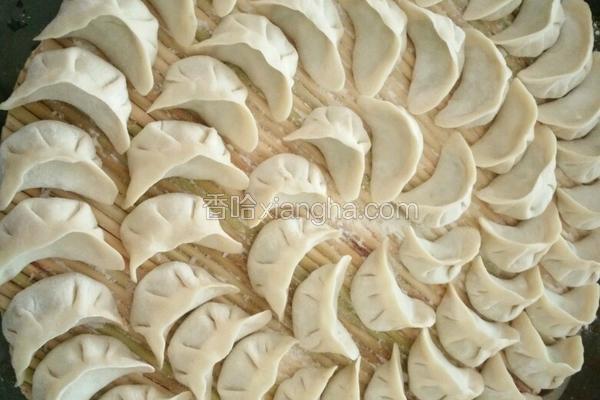 香菇 洋葱 辣椒 猪肉水饺