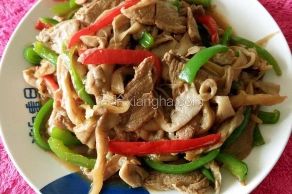 蘑菇烧肉片