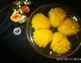 黄玫瑰芒果布丁