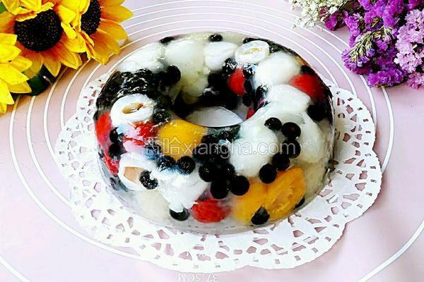 五彩缤纷水果冻