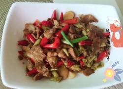泡椒酸豆角炒肉片