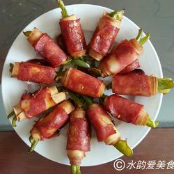 香烤培根蔬菜卷
