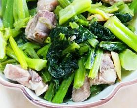 春菜煲排骨