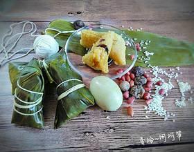 香菇花生肉粽(龙舟粽)