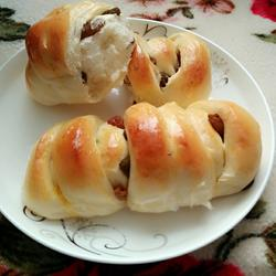 葡萄干面包卷