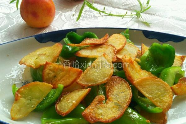 煎土豆片炒大辣椒
