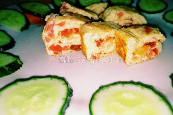 西红柿蛋卷