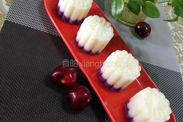 紫薯山药糕(无糖版)