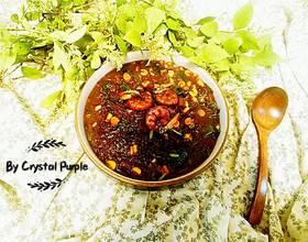 腊肠黑米什锦虾粥