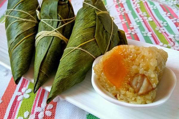 咸肉蛋黄粽