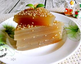 姜汁红糖千层马蹄糕