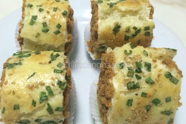 香葱芝麻肉松面包卷