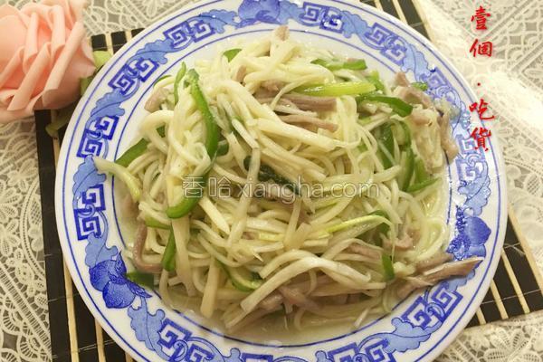 茭白肉丝的做法_茭白青椒肉丝的做法_菜谱_香哈网