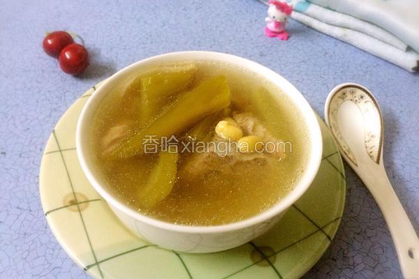 苦瓜龙骨黄豆汤