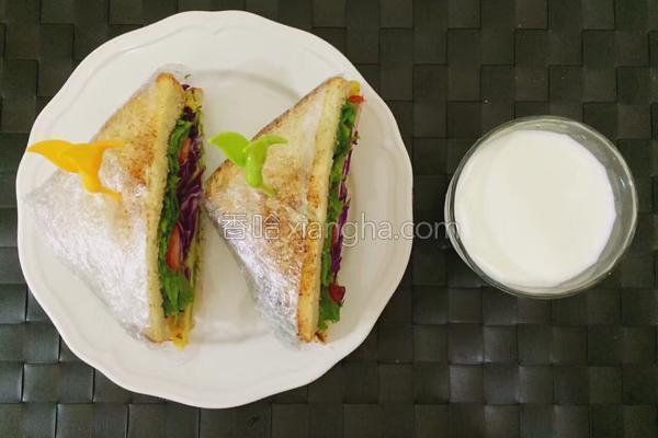 土司三明治的做法
