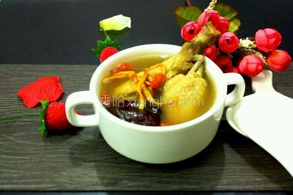 虫草花煲土鸡汤