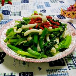 海鲜菇炒菜心