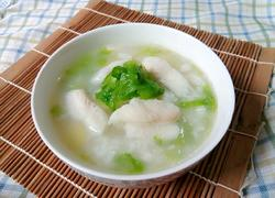 生菜龙利鱼片粥