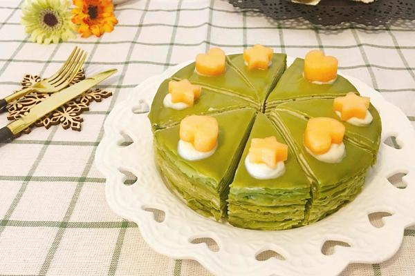 抹茶榴莲千层蛋糕