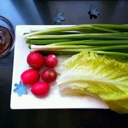 小葱蘸酱菜