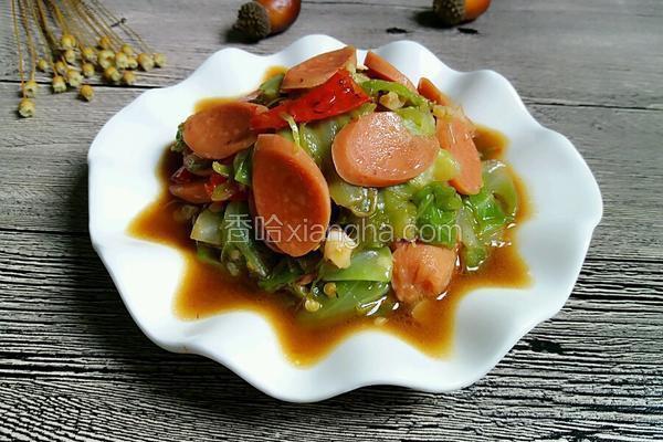 爆炒火腿圆白菜