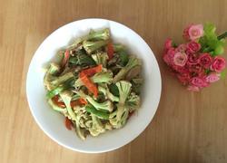 花菜炒鲜味粉丝
