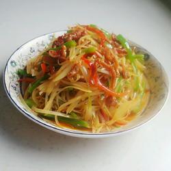 双椒土豆肉丝