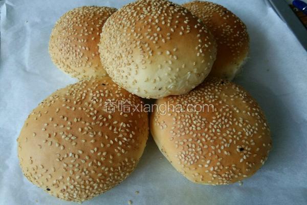 芝麻汉堡坯面包