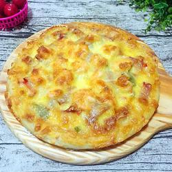 鲜虾培根披萨(九寸)