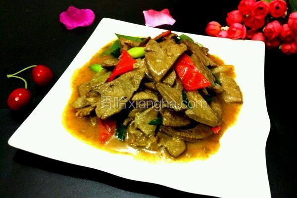 蒜苗红椒炒猪肝
