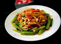 香葱拌干豆腐卷