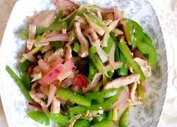 洋葱青椒炒肉丝