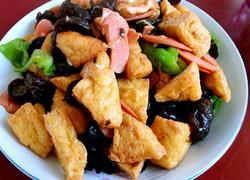 火腿木耳炒豆腐