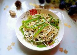 青椒炒银芽