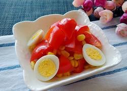 彩椒玉米鸡蛋沙拉