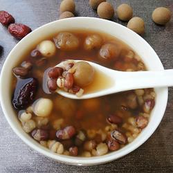桂圆莲子红豆粥的做法[图]