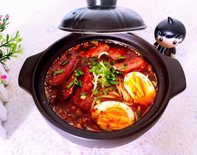 牛肉烤肠蔬菜面