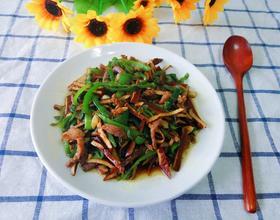 辣椒豆干炒肉