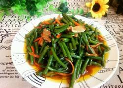 肉片炒豇豆角