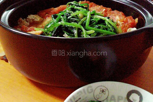 番茄豆腐煲的做法