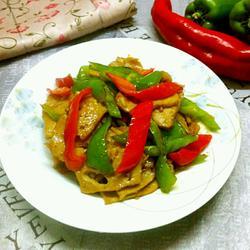 彩椒炒肉卷