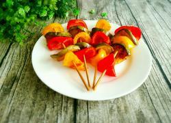 彩椒茄子烤串