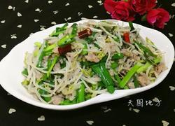 绿豆芽炒肉沫
