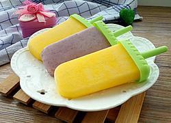自制雪糕(芒果酸奶和蓝莓酸奶)