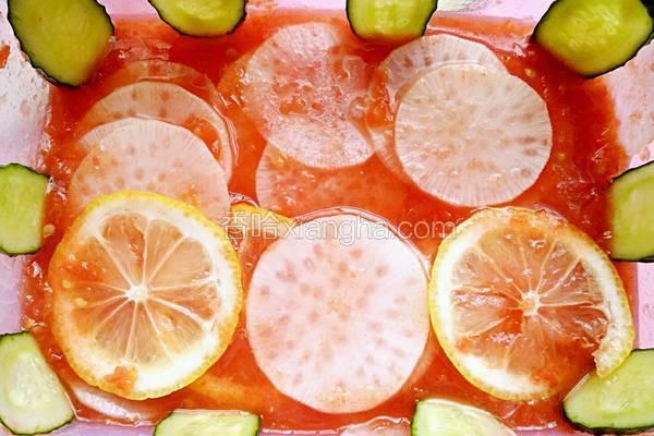 白萝卜番茄冰柠浴