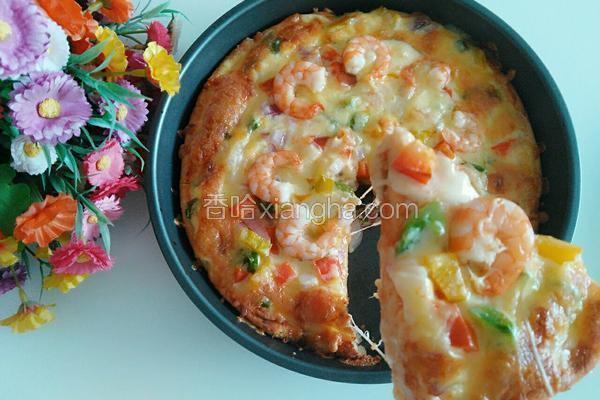 彩椒鲜虾披萨
