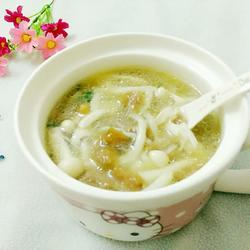 海鲜菇滑肉汤