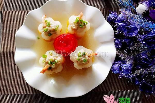 花样白萝卜酿虾球