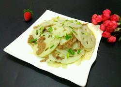 肉片炒莲藕